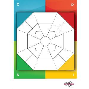 Extended DISC® Diamant A1 uden laminering med farvede hjørner